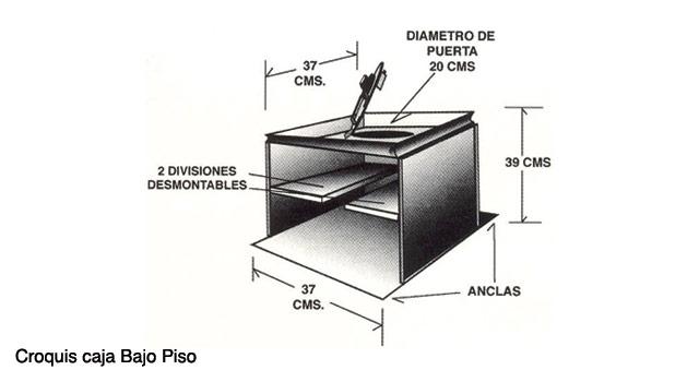 Instalación caja fuerte bajo piso